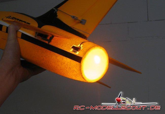 Simulierter Nachbrenner für Impeller-Jets