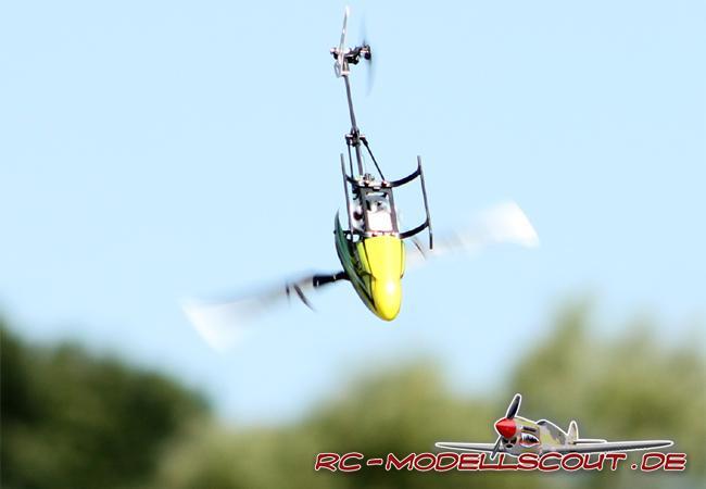 Kraftentfaltung wie mit der Steinschleuder: Der BLADE 130 X im Probeflug