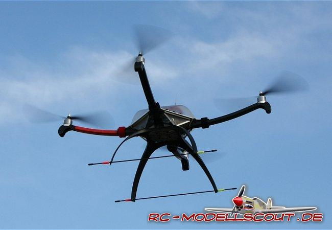 Test: CONRAD ARF 650 Quadrocopter
