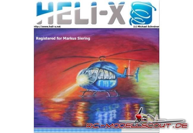 Startscreen Heli-X 3.0