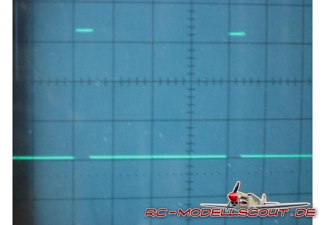 Wie man am Bild erkennen kann, beträgt die Impulsspannung bei den GigaScans 3,3V